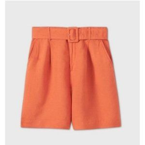 Women's Belted High-Rise Shorts - A New Day M